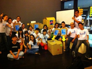 The team of awesome volunteers